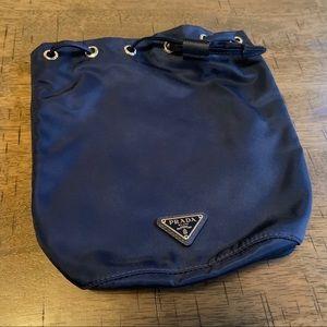 NWT Prada Nylon Bucket Bag in Navy Blue